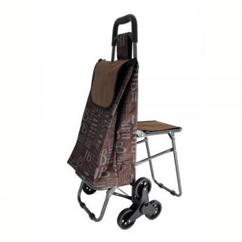 Сумка-тележка хозяйственная трехколесная со стулом
